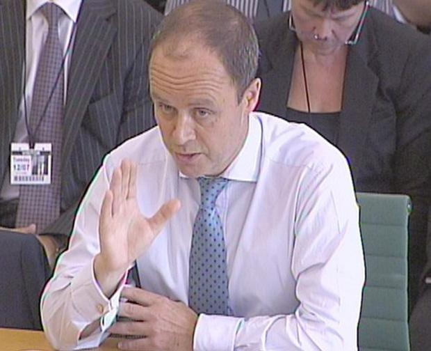 Assistant Commissioner John Yates gives evidence to a Commons Home Affairs Committee regarding recent phone hacking allegations