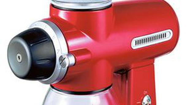 <b>1. Kitchenaid Artisan Burr</b> Big, bold and bright red, KitchenAid's grinder certainly stands out from the crowd.It also has 15 different settings and ceramic grinding heads to reduce bean-defiling friction. <b>£169, cookware-online.co.uk</b>