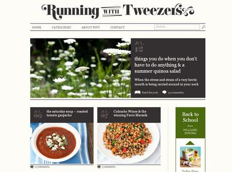 <b>Running with Tweezers</b><br/> This might seem an odd name for a food website but Lulu Grimes says it's brilliantly informative for anyone thinking of working on their own blog. 'Tami has good advice and great recipes.' <b>Where</b> www.runningwith tweezers.com