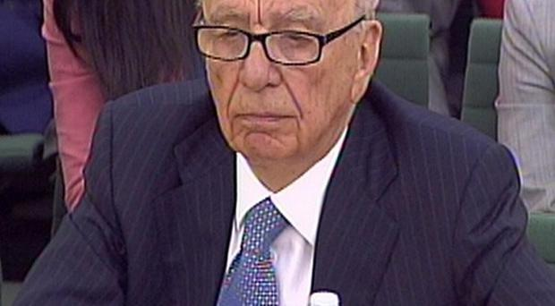 News Corporation chairman Rupert Murdoch giving evidence to the Culture, Media and Sport Select Committee
