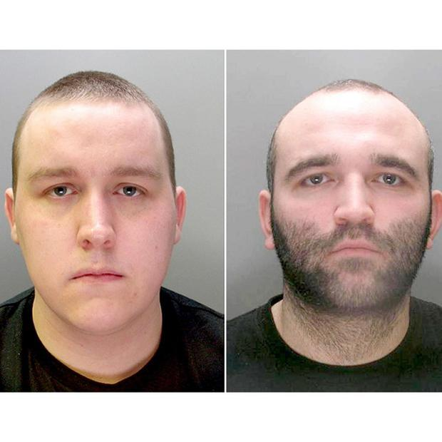 Anthony Downes, left, and Kirk Bradley, who were taken from a prison van by an armed gang