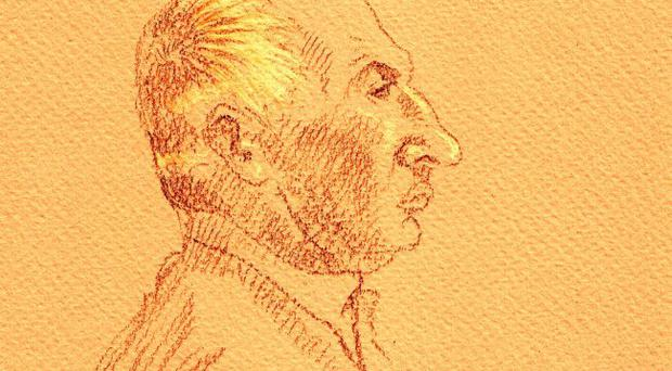 Court sketch of Michael Ferry being sentenced on June 18th at Central Criminal Court, Dublin for 96 counts of sexual abuse