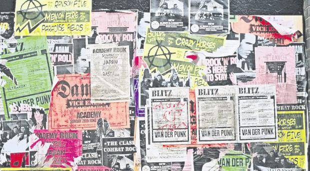 Fly on the wall: posters promoting club and alternative nights out would appeal to author Brian Moore's sense of fun