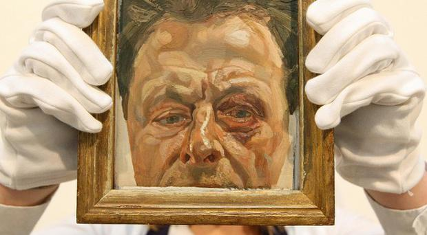 The art world is mourning Lucian Freud, who has died aged 88, seen here in his work Self Portrait with a Black Eye