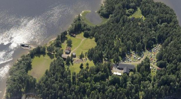 A gunman has opened fire at a youth camp for Norway's Labour Party on the island of Utoya (Mapaid, Lasse Tur)