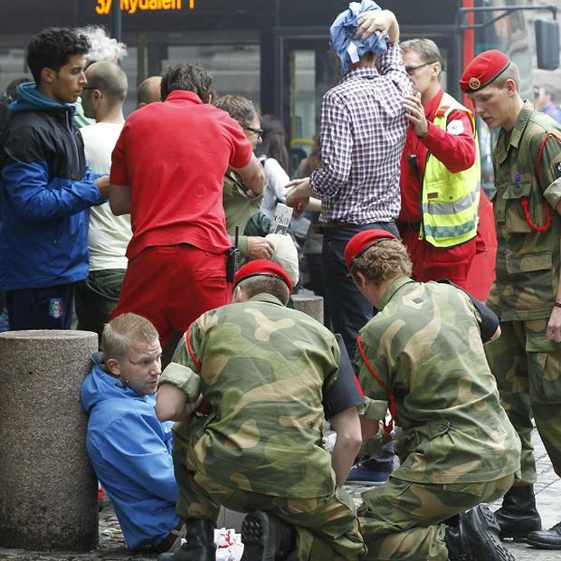 Leaders across the world have condemned the terror attack in Oslo, which has left several dead and injured (AP)