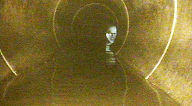 The ghostly visitor dubbed Sewerface is the latest unusual addition to the spooky sewers in the Newtownbreda district