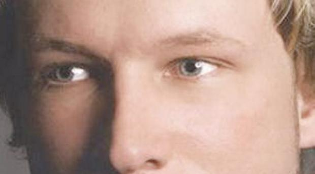 This is an undated image obtained from the Twitter page of Anders Behring Breivik