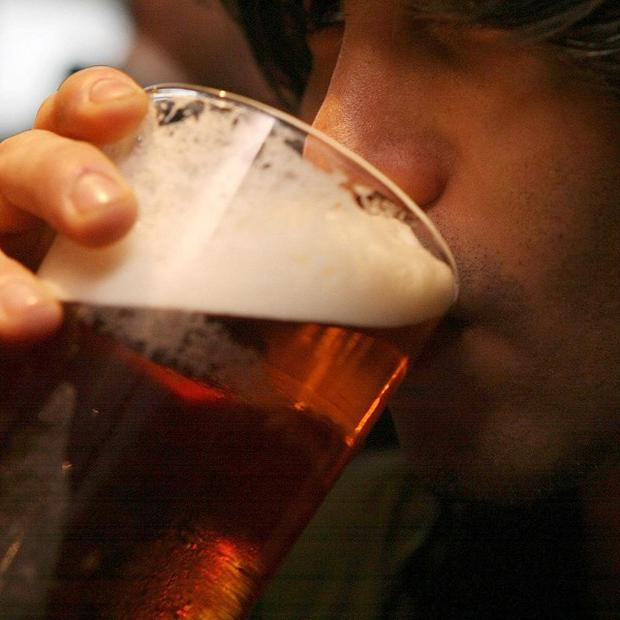 Beer sales have slumped by almost 10 per cent in the past few months, new figures show