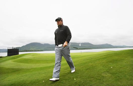 Graeme McDowell goes in search of better form at the Irish Open yesterday