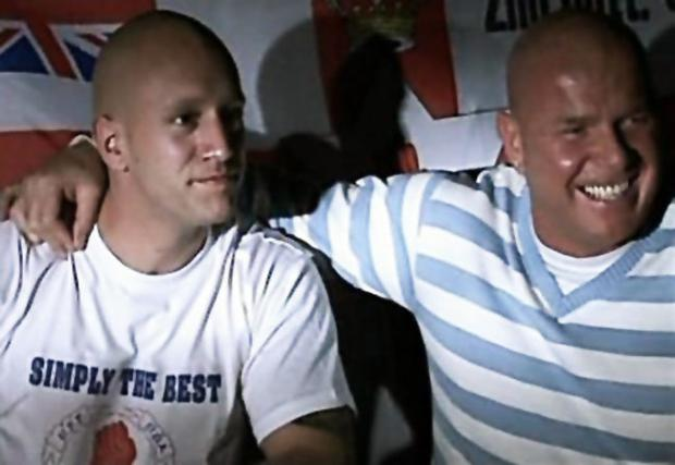 Nick Greger (left) with Johnny Adair