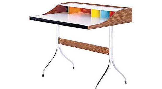 <b>GEORGE NELSON QUADERNA:</b><br/> George Nelson's walnut and chrome desk looks as fresh, dainty and attractive now as it did when he first created it back in 1958. A fantastic, if fantastically expensive, desk. <b>£2,811, utilitydesign.co.uk</b>