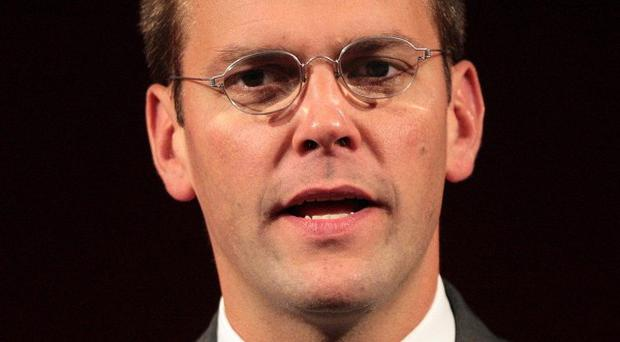 James Murdoch is to remain chairman at BSkyB, which has also announced a 23 per cent hike in profits