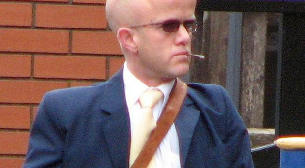 Nicholas Read arrives at Leicester Crown Court