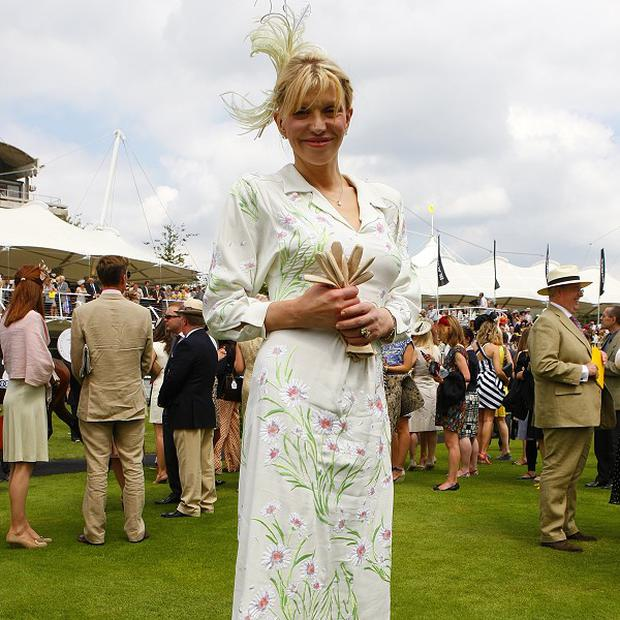 Courtney Love looks ladylike as she attends Glorious Ladies' Day at Goodwood