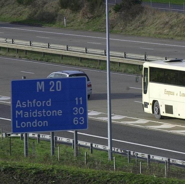 A man was killed after being struck by 'several vehicles' on the M20, police said