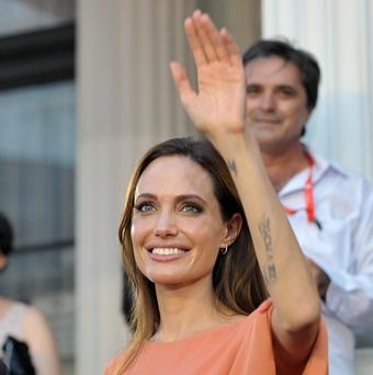Angelina Jolie received a special award during a surprise visit to the Sarajevo Film Festival (AP)