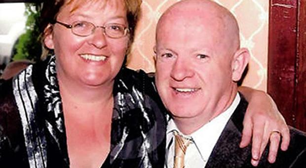 Angela Sharkey, who is critically ill in hospital after a fire, is unaware that her husband Thomas and their two children have died