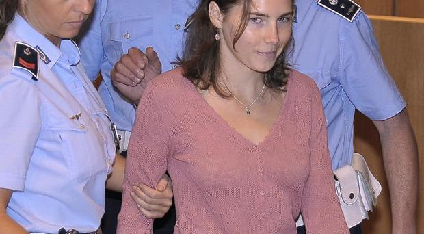 American student Amanda Knox arrives for a hearing of her murder appeal in Perugia (AP)