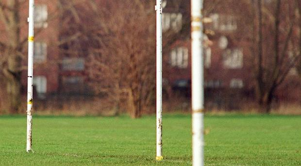A 12-year-old boy died after being crushed by goalposts at a recreation ground in Powys