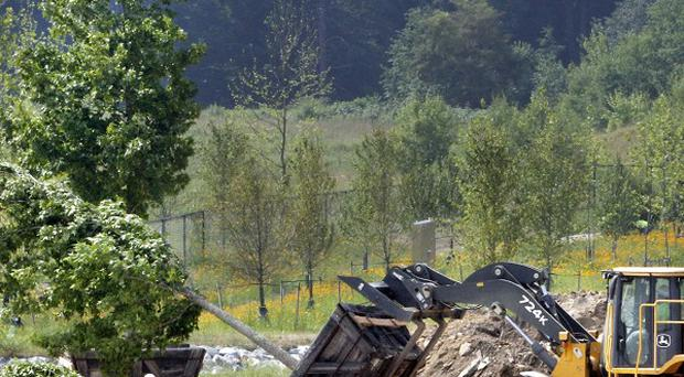 Trees are planted at the permanent Flight 93 Memorial site in Shanksville, Pennsylvania (AP)