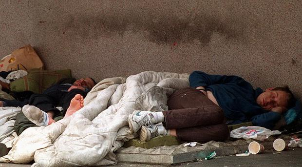 The number of people made homeless has increased by around 1,500 in the last year