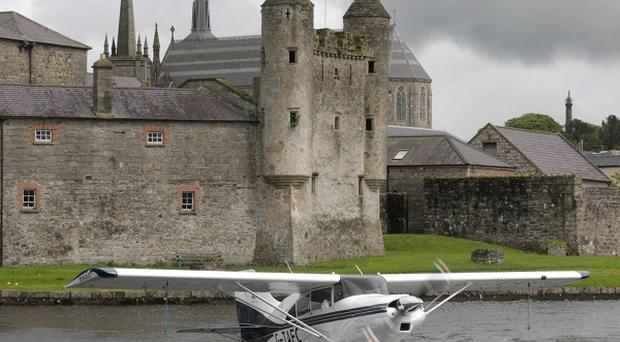 A Lakeland Seaplane Tours Ltd plane pictured at Enniskillen Castle during the Fermanagh Seaplane Festival