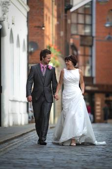 The wedding of Susan Shields and Andrew Donaldson <p><b>To send us your Wedding Pics <a href=