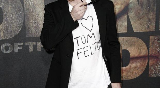 Rupert Grint was keen to show his support for Harry Potter co-star Tom Felton