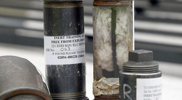 A pipe bomb device has been discovered in Co Down, officers say
