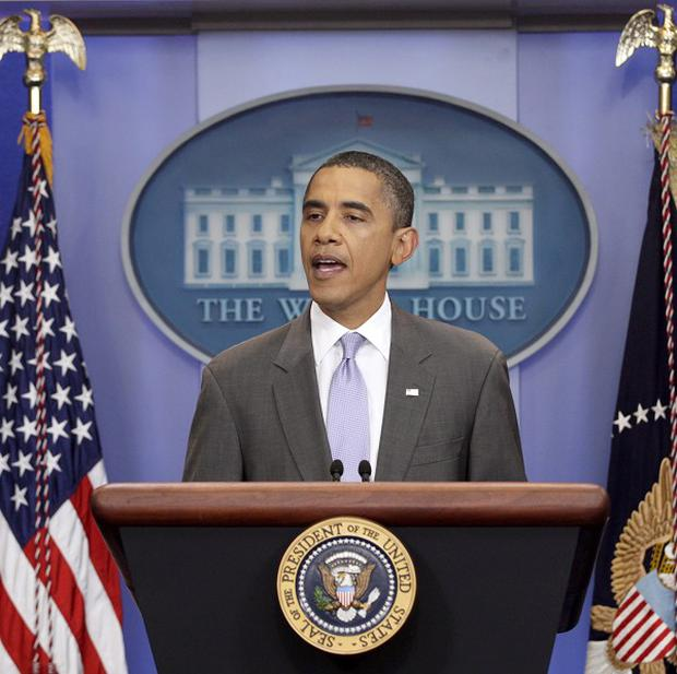 President Barack Obama speaks from the White House briefing room about a deal reached to raise the debt limit (AP)
