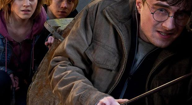 Emma Watson, Rupert Grint and Daniel Radcliffe in Harry Potter and the Deathly Hallows: Part 2, which has made a billion dollars in the US