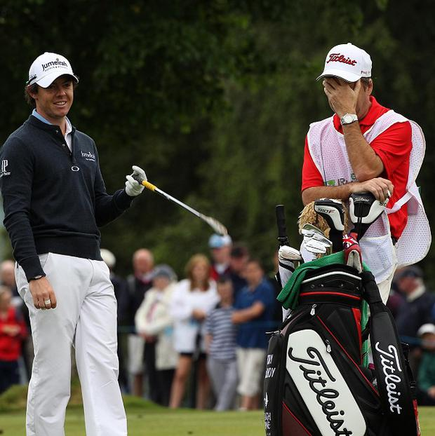 Rory McIlroy (left) and JP Fitzgerald