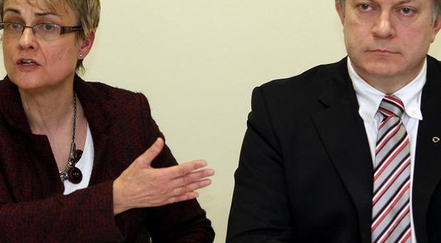 Patsy McGlone plans to challenge Margaret Ritchie (left) for the leadership of the SDLP