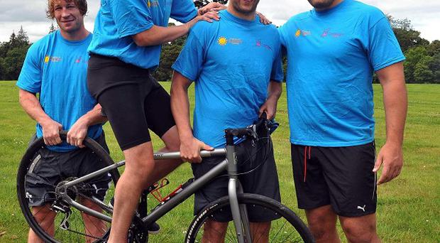 Ciaran Power (on bicycle) is organising a cycle ride for charity