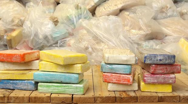Drugs recovered during the UK's largest ever cocaine seizure