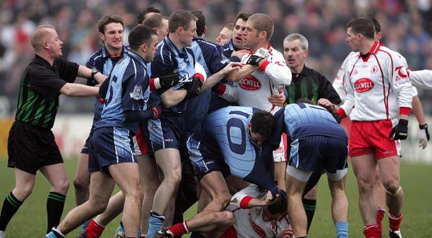The infamous 'Battle of Omagh' in 2006