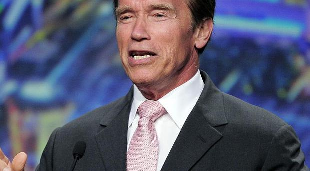 Arnold Schwarzenegger received a standing ovation at the event