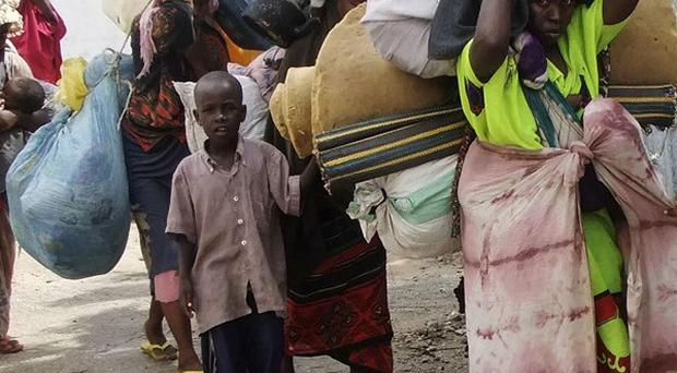 Thousands of refugees have flooded into Mogadishu from Somalia's drought-stricken south (AP)
