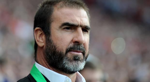 MANCHESTER, ENGLAND - AUGUST 05: New York Cosmos Manager Eric Cantona looks on prior to Paul Scholes' Testimonial Match between Manchester United and New York Cosmos at Old Trafford on August 5, 2011 in Manchester, England. (Photo by Chris Brunskill/Getty Images)