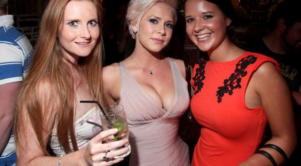 Holly Sweeney, Clare Graham and Sarah Beck at Benedicts, Belfast