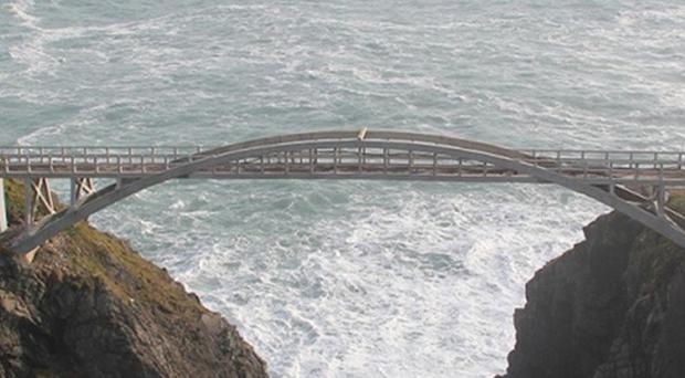 The Mizen Head bridge, which spans 50m across a dramatic sea gorge, has reopened