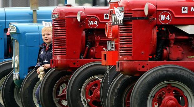Thefts of expensive items such as tractors in rural areas have increased over the past two years, figures show