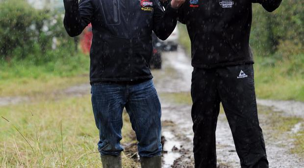 Adrian Archibald and Ryan Farquhar's efforts to clear the circuit were in vain as racing was cancelled
