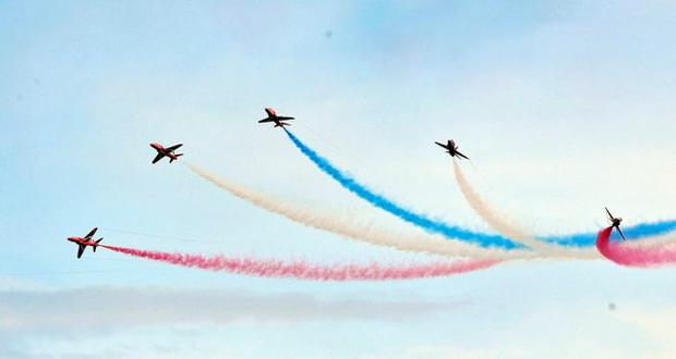 The Red Arrows take to the skies during the