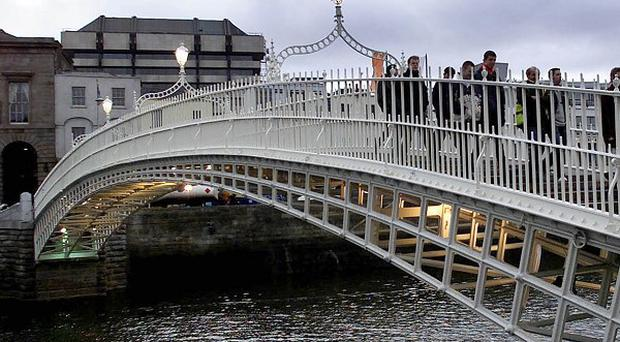 A Tyrone fan has drowned in the River Liffey after the All Ireland Football quarter-finals in Croke Park