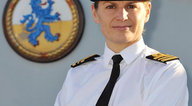 Lieutenant Commander Sarah West is to be the first woman to command a Royal Navy warship (LA(PHOT) Ben Sutton/PA)