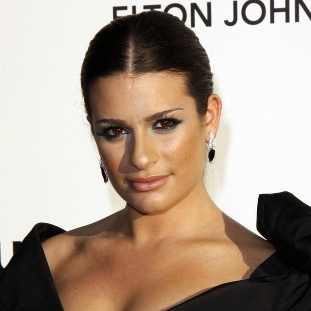 Lea Michele plays go-getter Rachel Berry in Glee