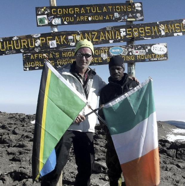 Ian McKeever and Samuel Kinsonga hope to become the fastest men to scale Africa's highest mountain