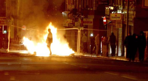 Rioting in Liverpool